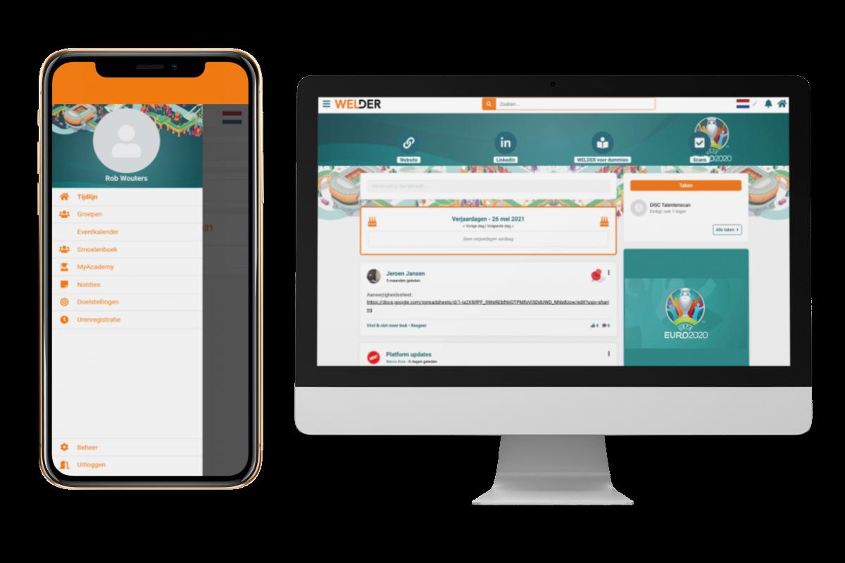 ⚽ Juichen met EK design in de app! ⚽