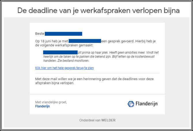 Update MyVIP: werkafspraken