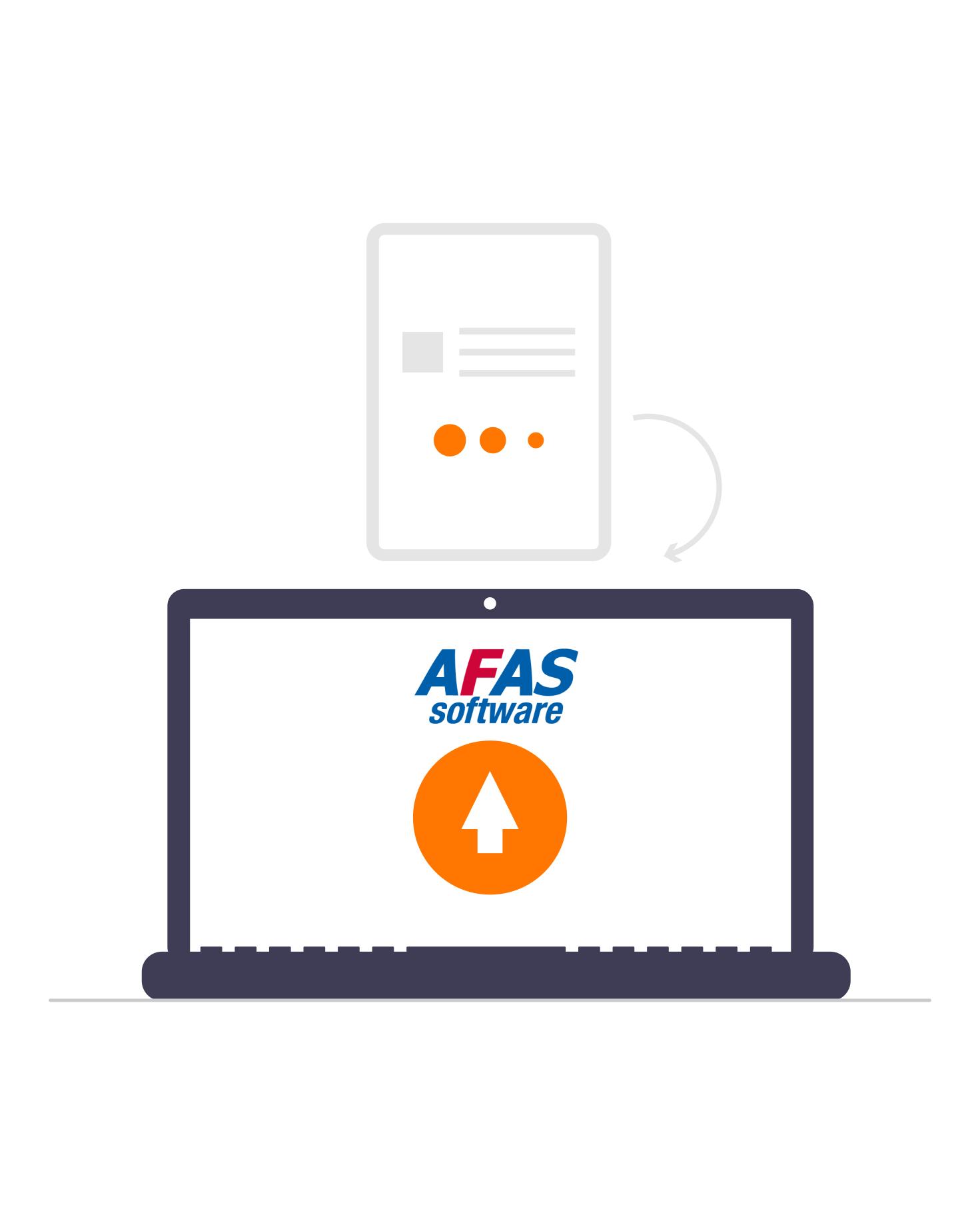 Gespreksverslag in AFAS dossier van medewerker